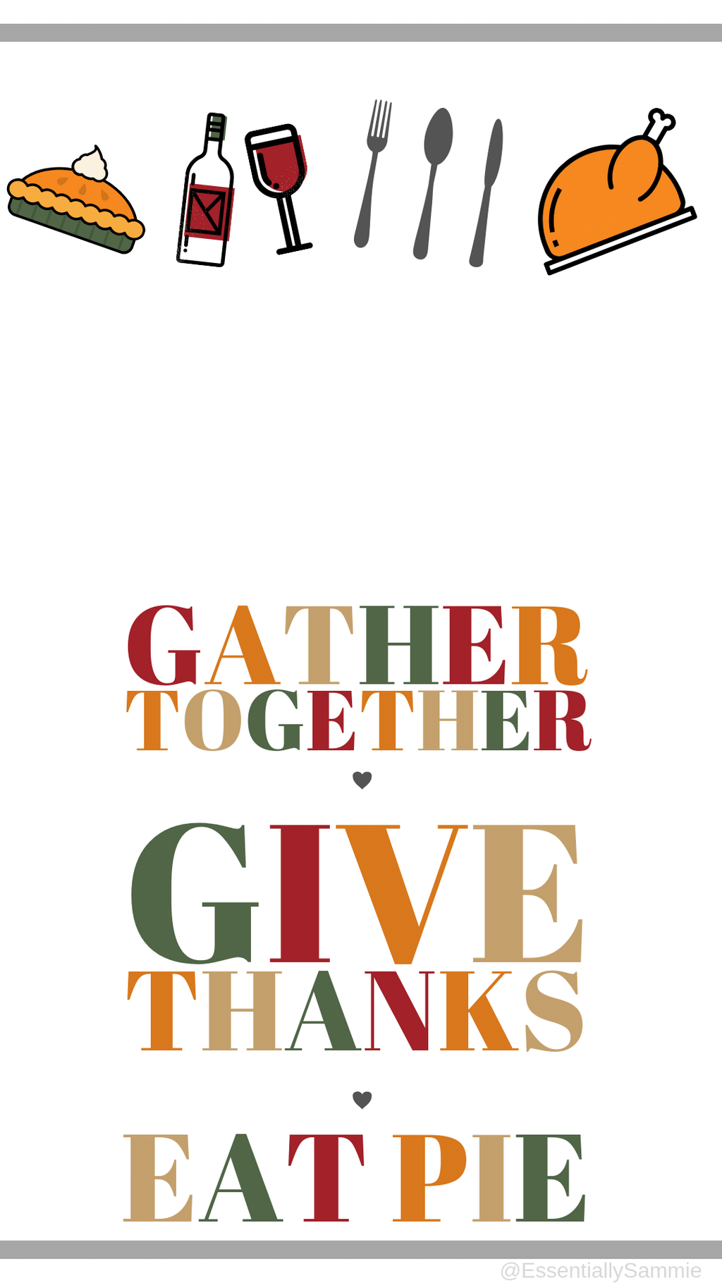 Thanksgiving fall cell phone wallpaper background lock ...