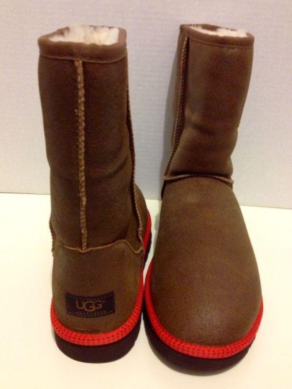 UGG Australia Mens Classic Short Leather Snow/Winter Boots, Chestnut, 11 Men