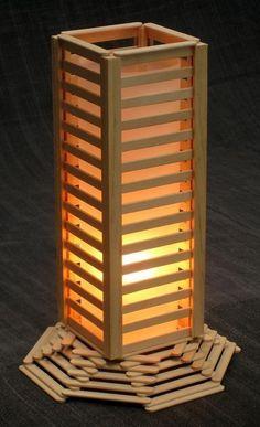 Luminaria Com Palitos De Picole