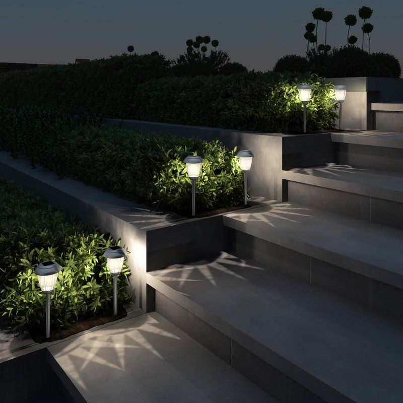Solar Powered Led Pathway Light Pack Iluminacion De Patio Iluminacion Jardin Casa Jardin