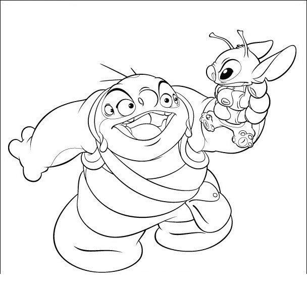 Lilo og Stitch Tegninger til Farvelægning 36 | Lilo And Stitch ...