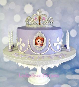 Sensational Princess Sofia Cake Torta Princesa Sofia Birthday Cards Printable Opercafe Filternl