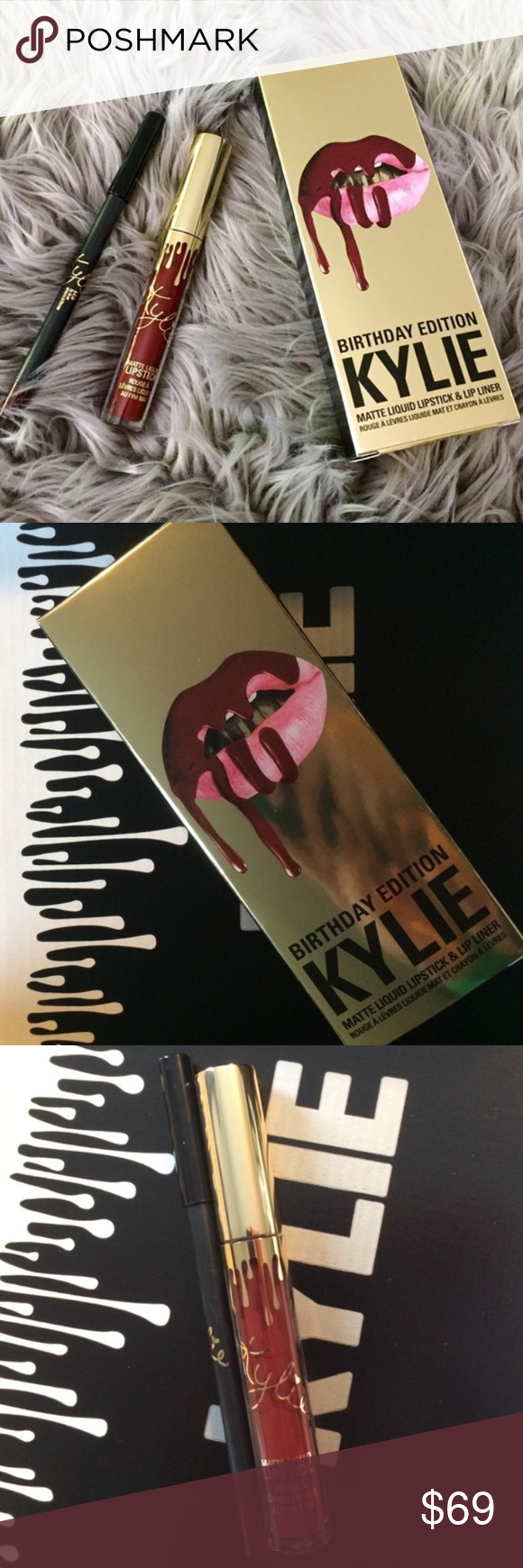 Shipping NOW ❤️ Kylie Cosmetics LEO Lip Kit SHIPPING NOW!! Placed my order on the 2nd birthday restock - it will be unopened untouched, I will send it in the sealed packaging along with the box it comes with. Comment with any questions and feel free to make an offer (but be aware I need to make at least what I payed for once posh takes) Kylie Cosmetics Makeup Lipstick