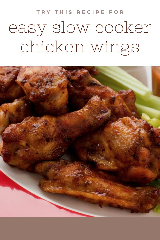 Easy Crock Pot Chicken Wings Recipe Chicken Wing Recipes Chicken Wings Crockpot Recipes