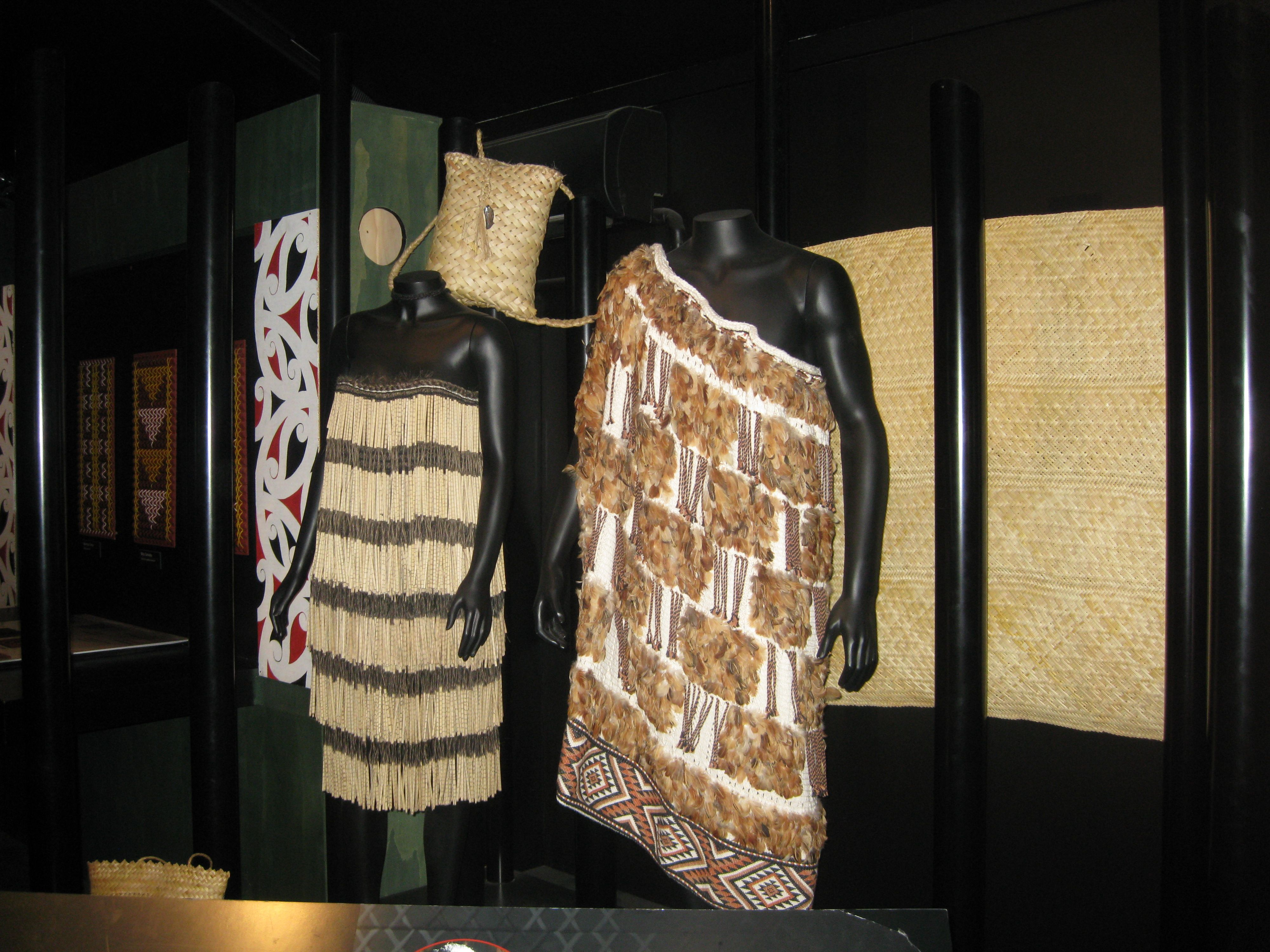 Maori Clothing: Traditional Maori Ceremonial Clothing In The Museum At Te