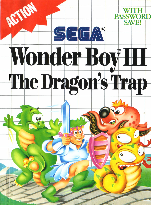 Les pires illustrations de boîtes de l'histoire du jeu vidéo : Wonder Boy III The Dragon's Trap sur Sega Master System