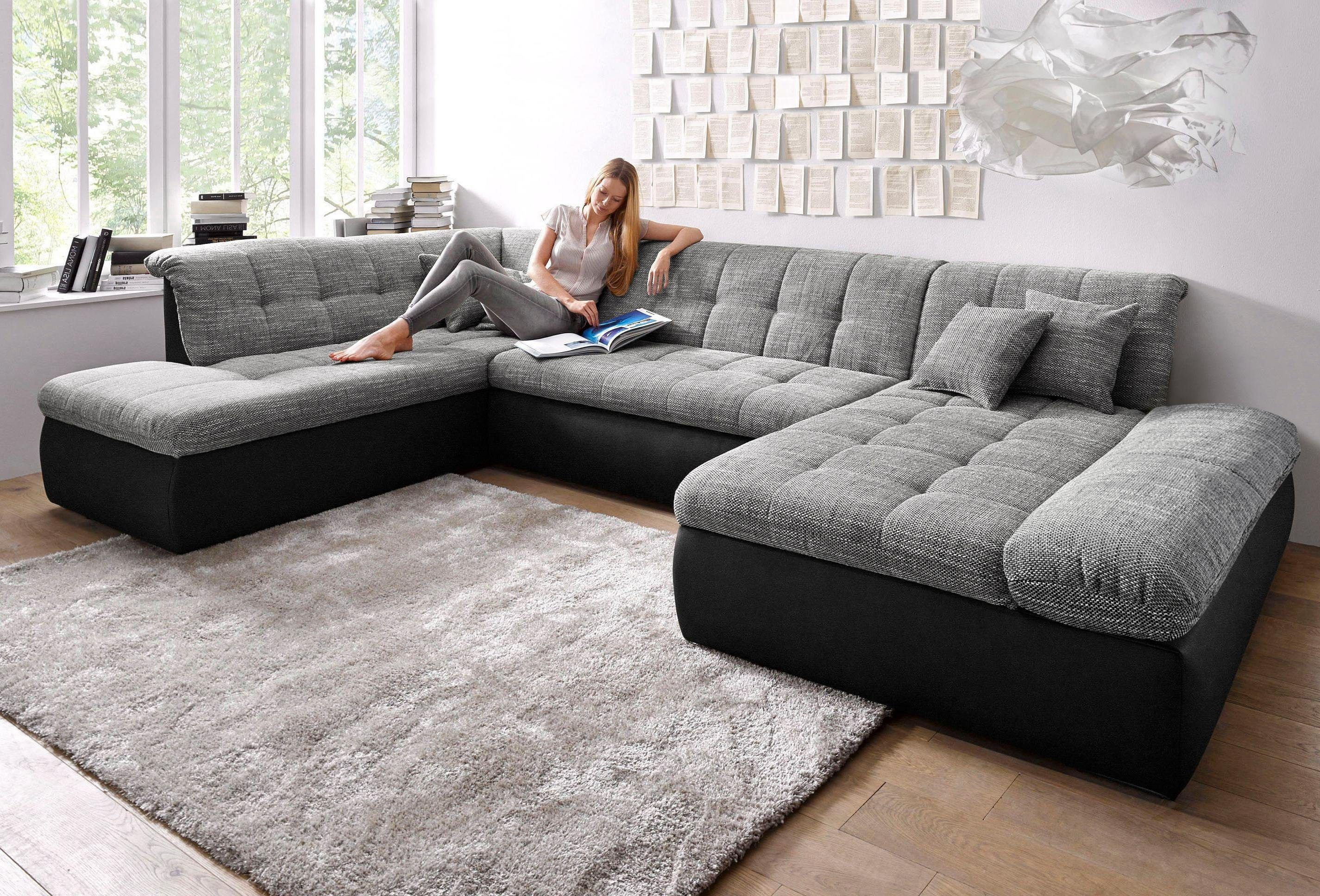 Domo Collection Wohnlandschaft Xxl Wahlweise Mit Bettfunktion
