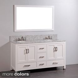4 foot double vanity. marble top double sink bathroom vanity and mirror set ideas for 4 foot n