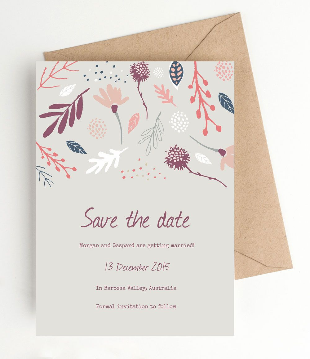 Printable Wedding Save The Date  Autumn Woodland Download This
