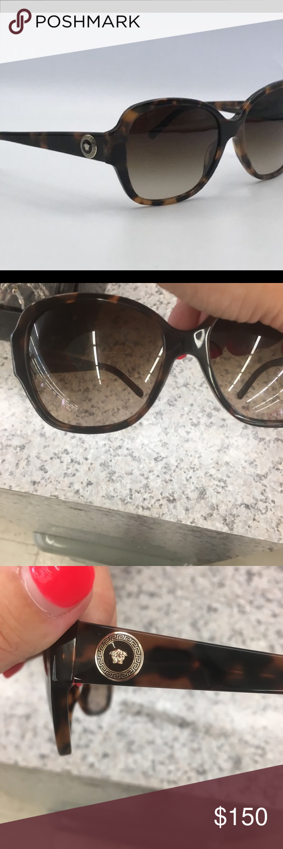 1455d3cbcee6 Spotted while shopping on Poshmark    Versace   Logo Tortoise Square  Sunglasses!  poshmark  fashion  shopping  style  Versace  Accessories