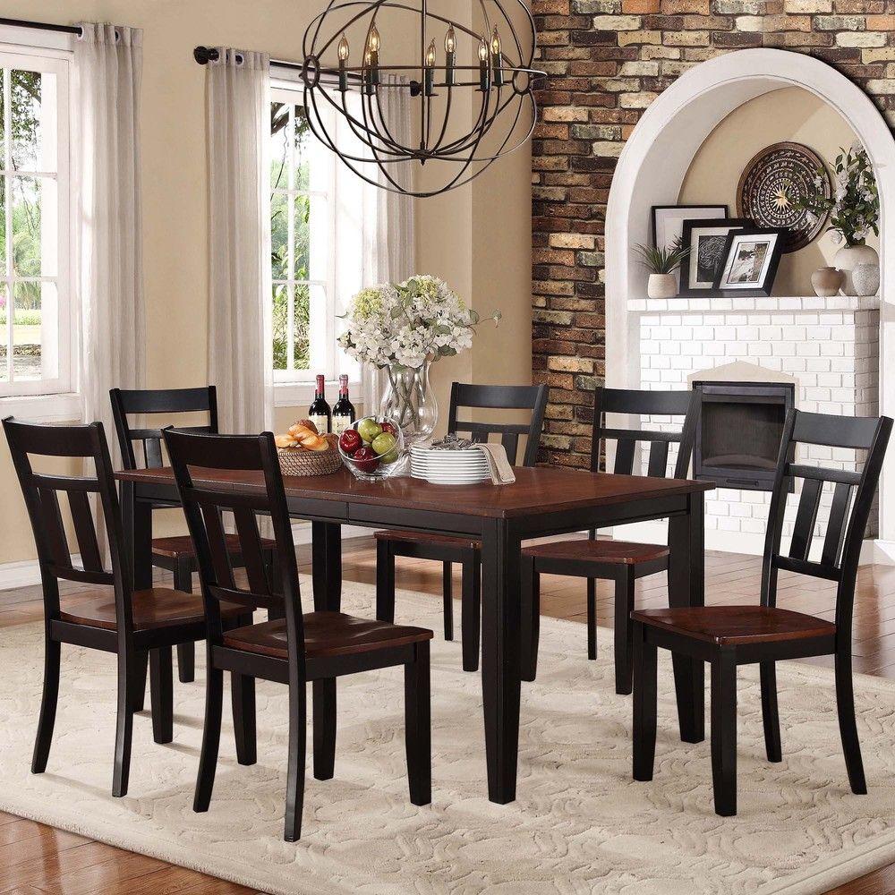 Eli Rustic Black Cherry 7 Piece Mission Extending Dining Set |  Overstock.com Shopping