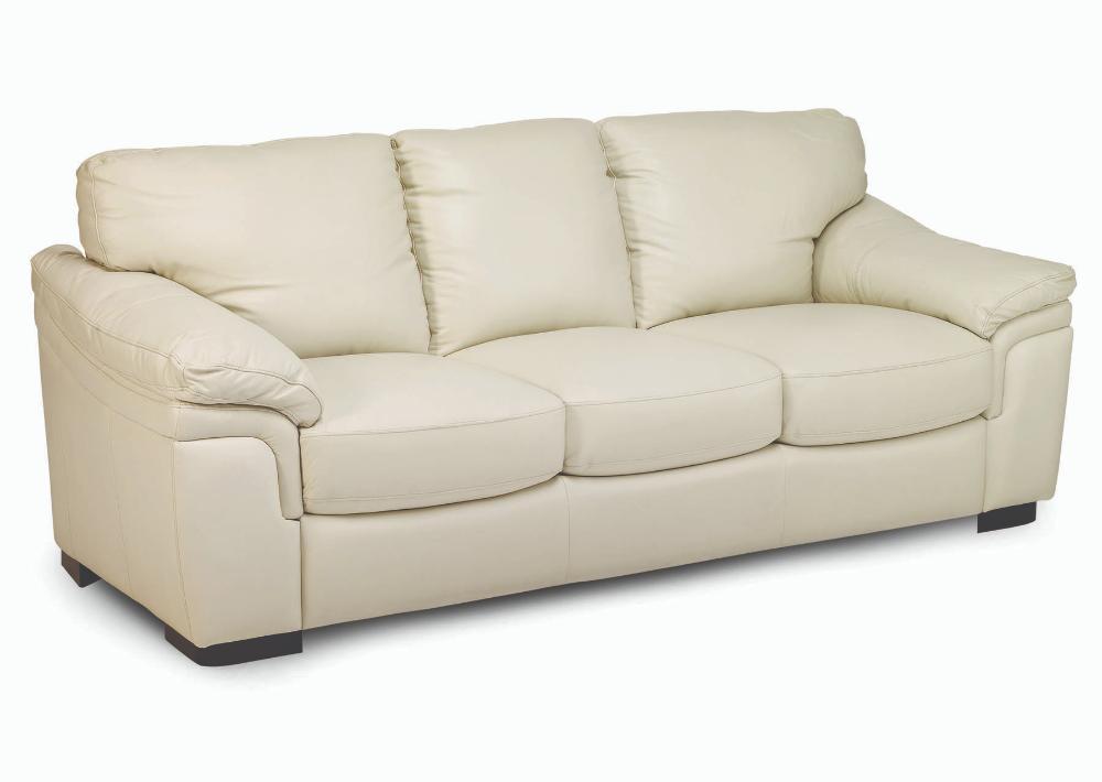 Jennifer Furniture Piero Cream Leather Sofa The Classy Home