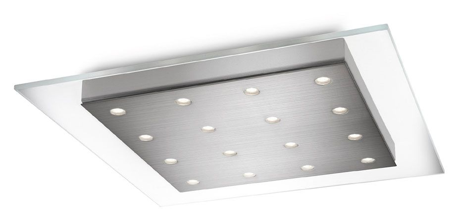 Philips 407421748 matrix contemporary brushed nickel finish 181 philips 407421748 matrix contemporary brushed nickel finish 181 wide led ceiling lighting phi mozeypictures Image collections