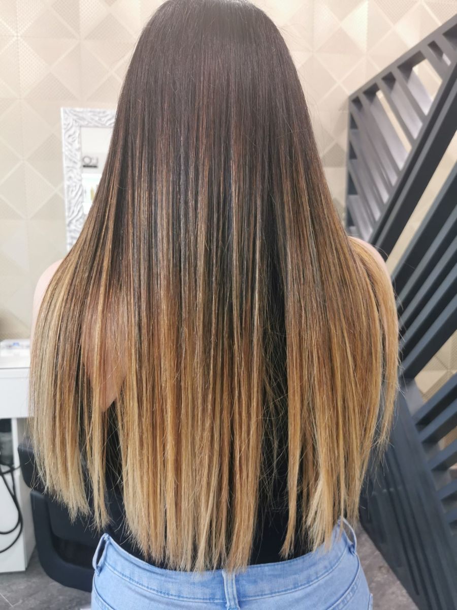 Ombré hair morena balayage