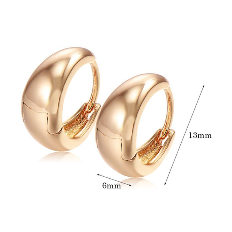 Children girls safety back baby kids smooth hoop earrings