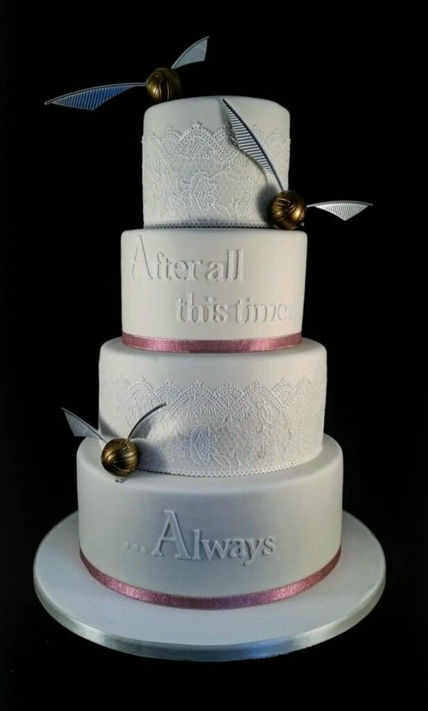My Anniversary Cake One Day One Day Harry Potter Wedding Cakes
