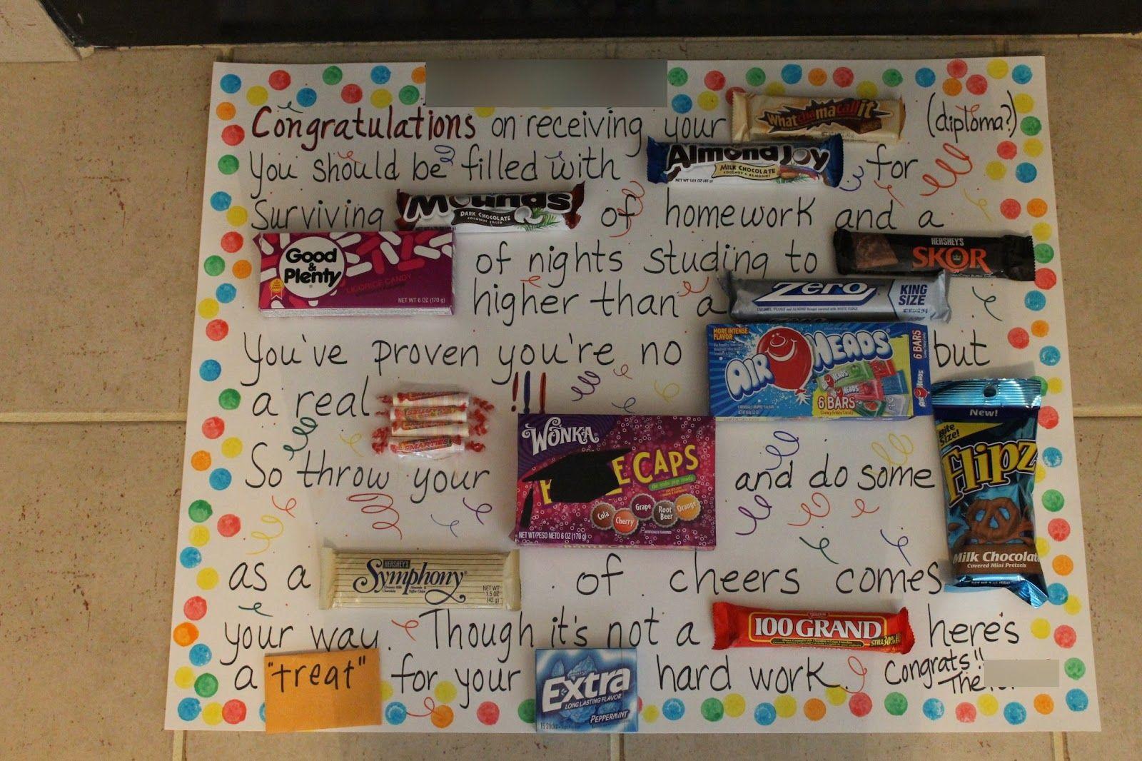 Graduation gift ideas candy grams pinterest graduation gifts graduation gift ideas negle Images