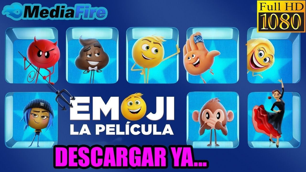 Descargar Emoji La Pelicula Hd 1080p Espanol Latino 2017 Emoji Movie Emoji Emoji Challenge