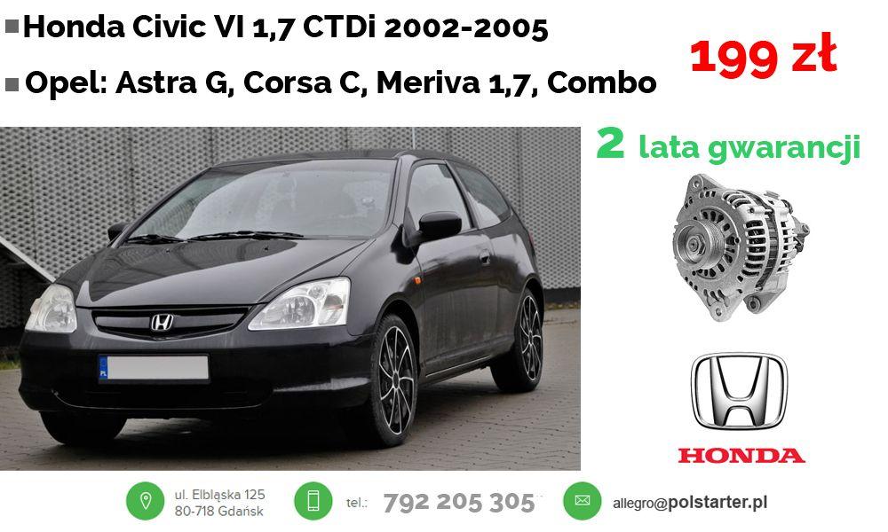 Alternator Civic Opel Astra G Corsa C Meriva 1 7 6333493801 Oficjalne Archiwum Allegro Alternator Opel Civic