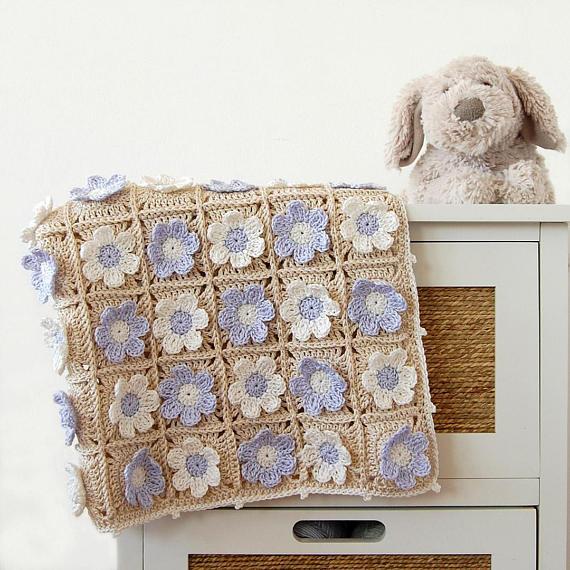 Ganchillo manta de recién nacido PDF patrón/ganchillo PDF | Crochet ...