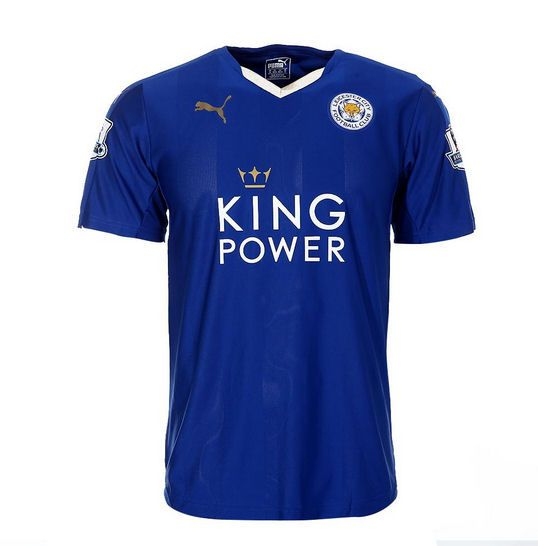 2015 16 Leicester City Home Football Shirt Blue Free Printing With Name Vardy Mahrez Okazaki E Leicester City Leicester Football Leicester City Football Club