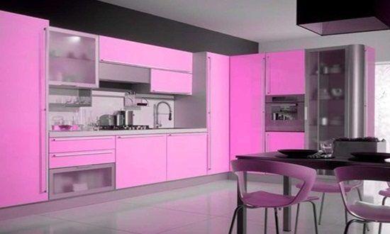 Modern Pink Kitchen Design