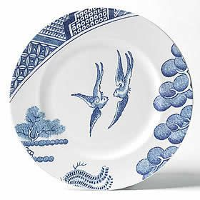 Robert Dawson Wedgewood Kindof A Modern Take On The Traditional Blue Willow Pattern Lovely
