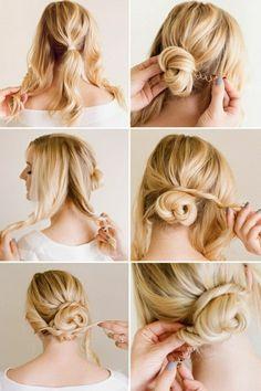 Leichte Hochsteckfrisuren Für Mittellanges Haar Hair Pinterest