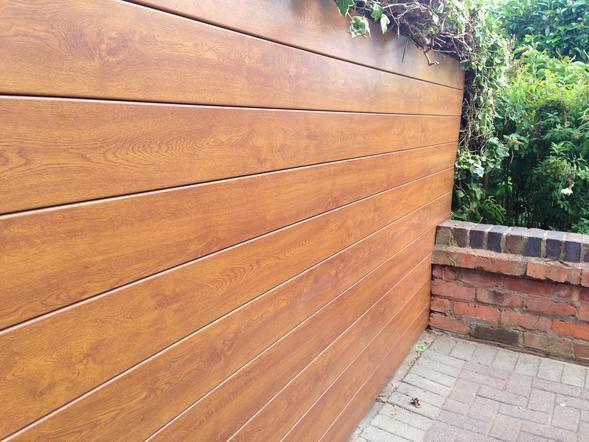 Revestimiento de fachada de pvc ranurado de panel - Imitacion madera para fachadas ...