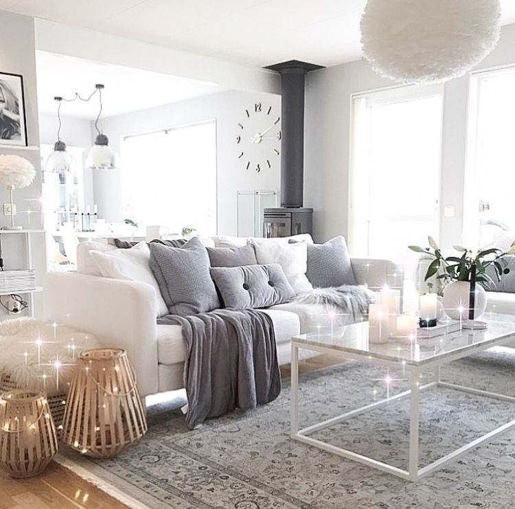 White Sofa Living Room Decor Best Light Color For Walls Pin By Bigcitylife On Neutral Interiors 45 Inspiring Pillows Ideas You Should Have In Your Home
