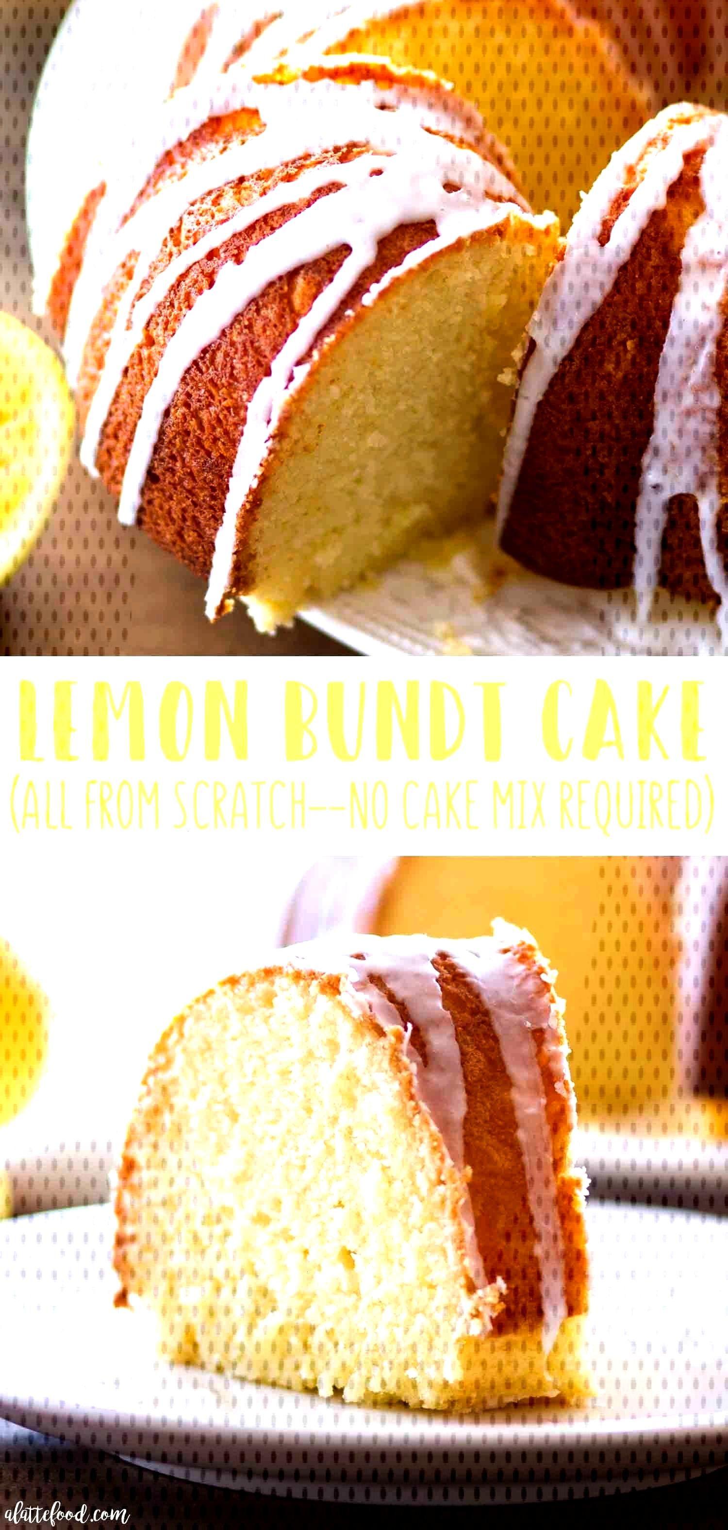 Easy Lemon Bundt Cake Recipe -