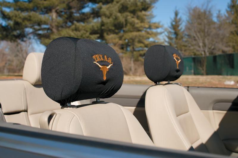Texas Longhorns Headrest Covers Set Of 2