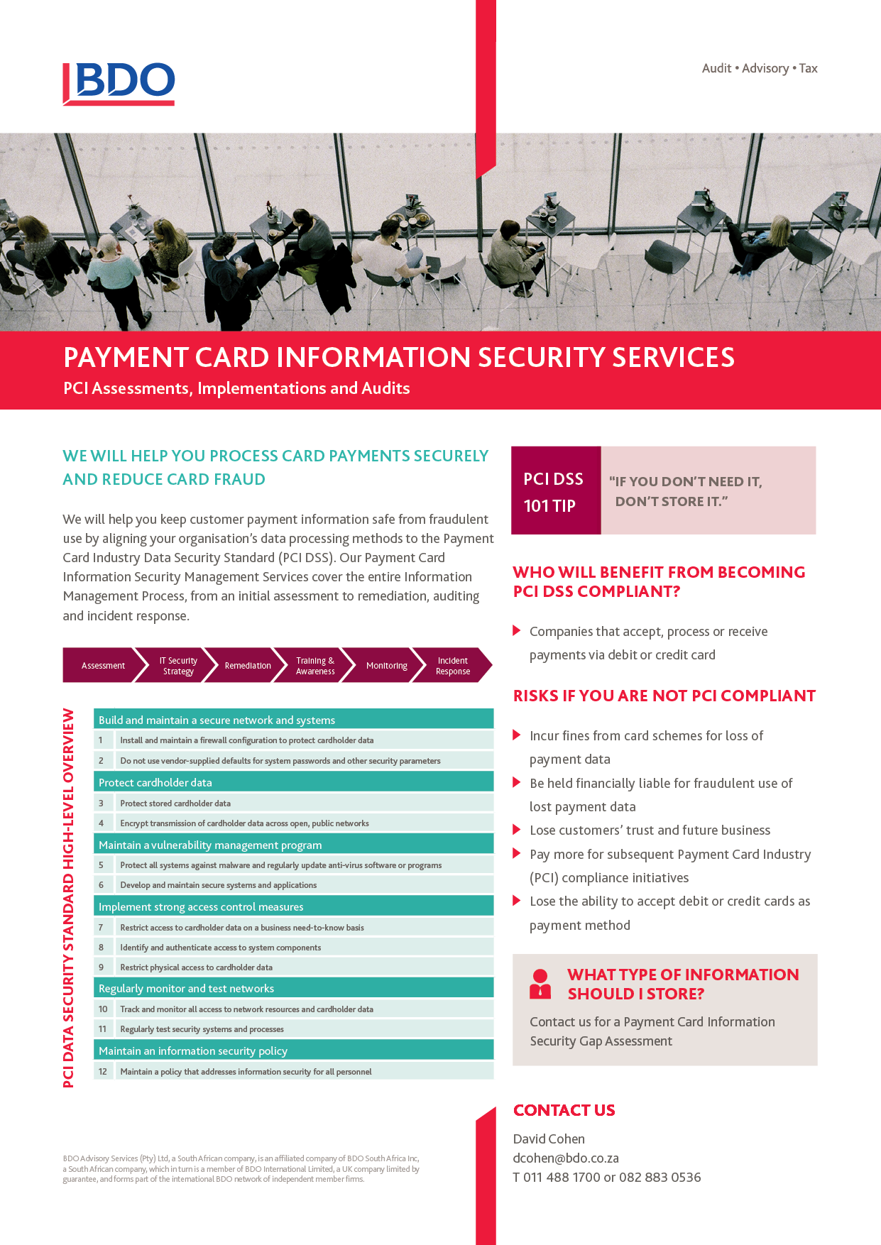 Payment Card Information Security Services Brochure Visit Our