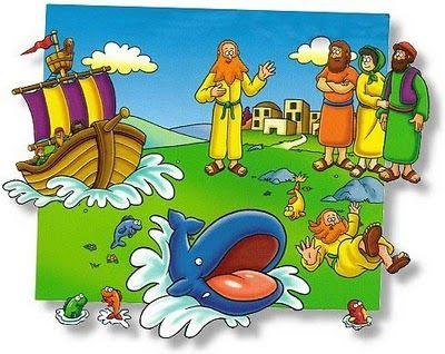 recursos para ministério infantil historia bíblica jonas e o
