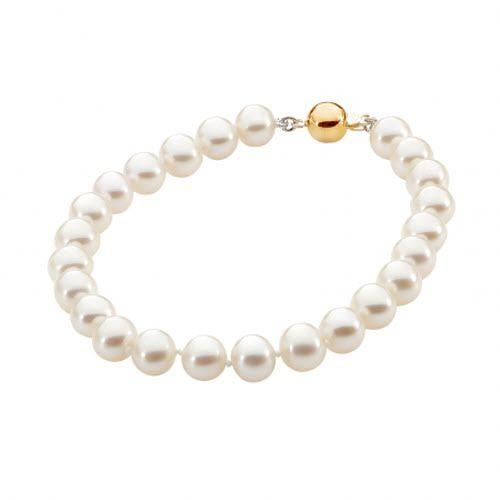 StyleRocks White Pearl Bracelet With Sterling Silver Heart Clasp eSzgTxEusp