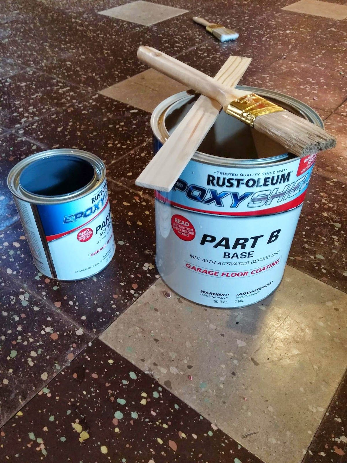 Painting Asbestos tile Asbestos tile, Painting basement