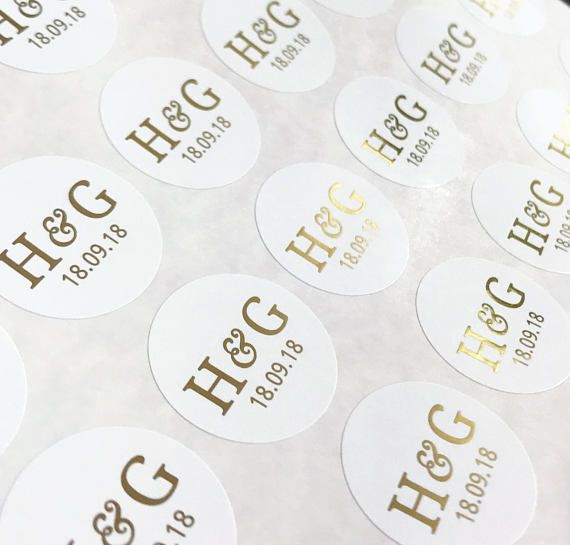 Round gold foil stickers for wedding invites personalised wedding stickers round stickers wedding