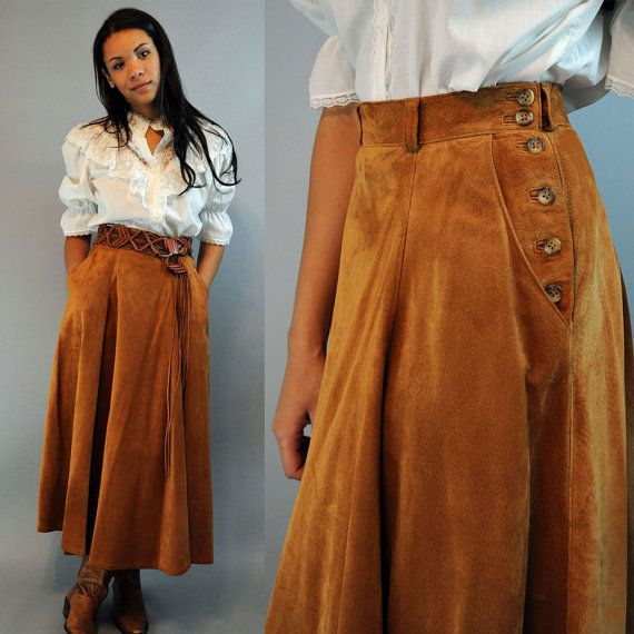 vintage 80s brown leather skirt high waisted skirt / LAURA ASHLEY ...