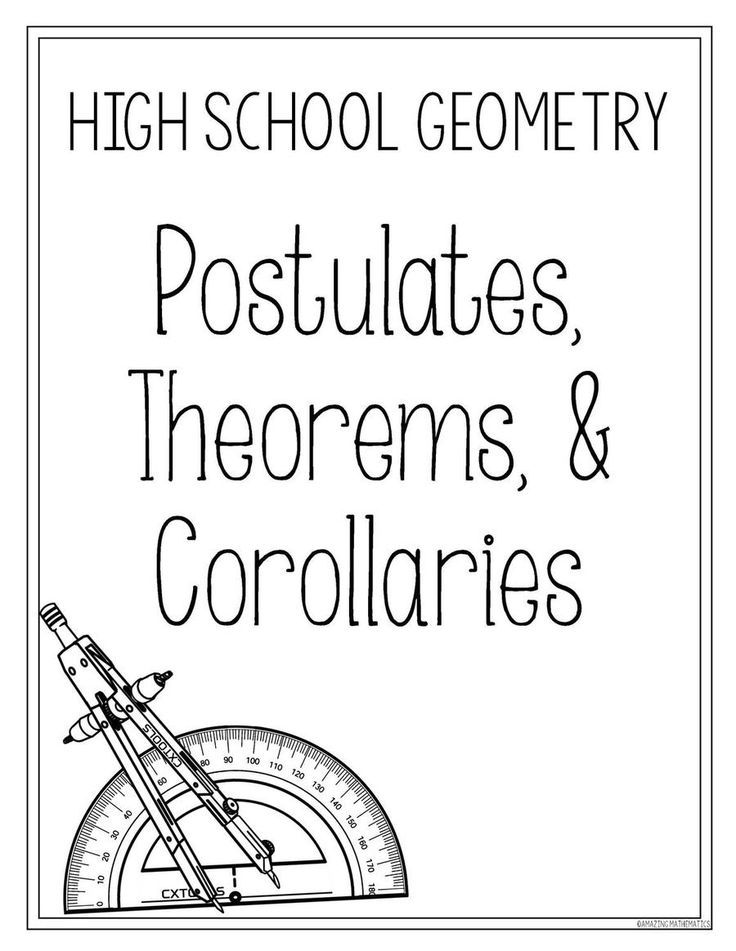 Postulates, Corollaries, & Theorems List ~ High School Geometry