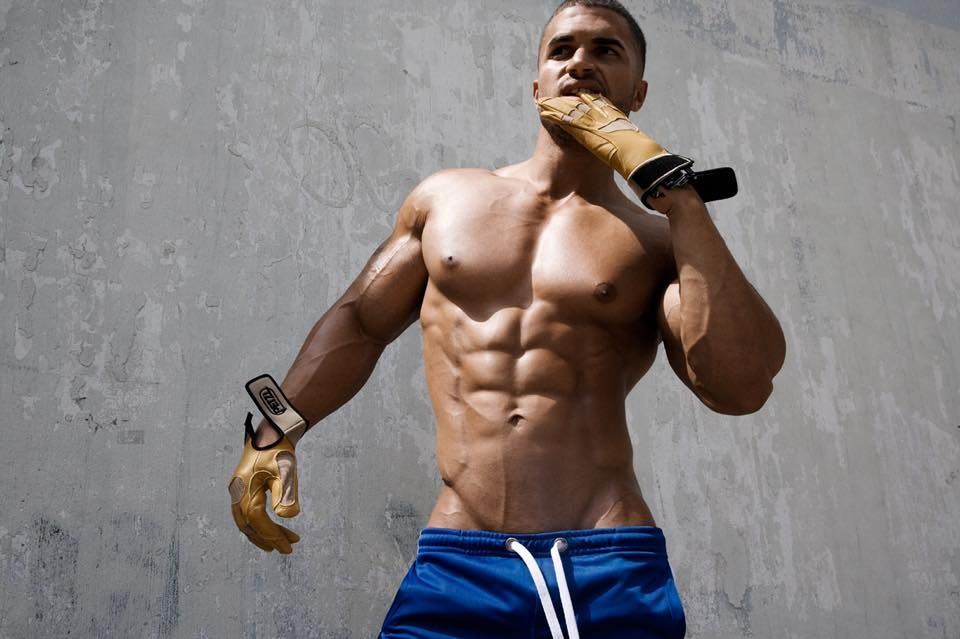 Hot body builder with castro
