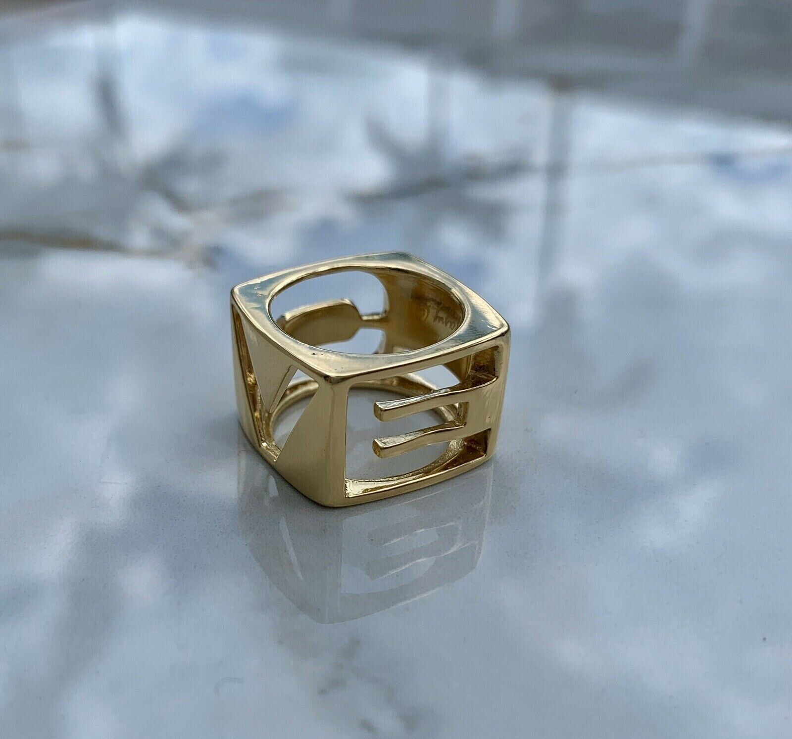 TIFFANY & Co LOVE 18k Yellow Gold Ring by DONALD CLAFLIN