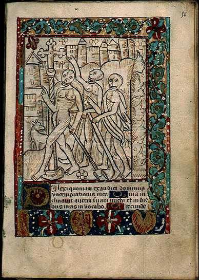 Les Trois Morts Livre D Heures Xylographie C 1500
