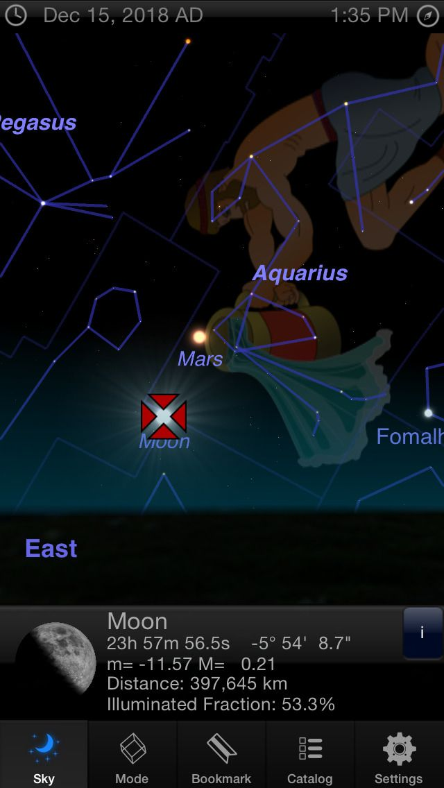 IPhone App StarMap D Guide To The Night Sky Planets - Star map iphone