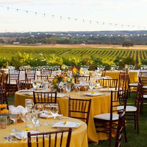 Al Fresco Vineyard Wedding Breakfast With A View! A Wine