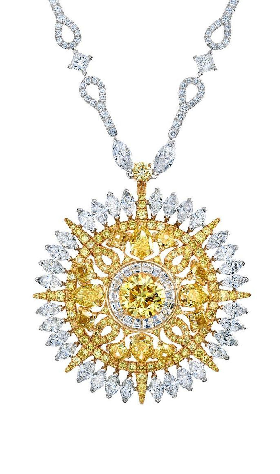 Ra diamond pendant necklace from the de beers diamond legends