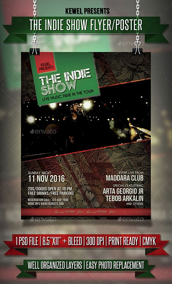 Indie Show Event Flyer \/ Templates Event flyer templates, Event - event flyer templates
