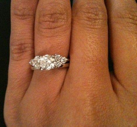 Just Got My Ring Wrap Aka Wedding Band For Solitare Pics Inside Weddingbee