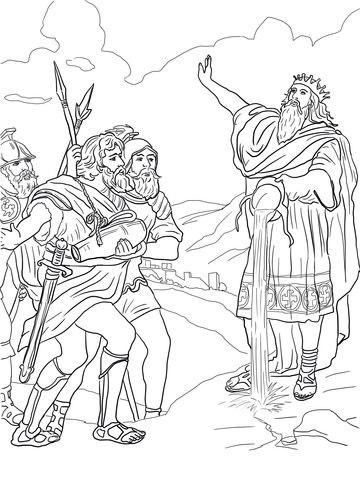 David And His Mighty Men Coloring Page Free Printable Coloring Pages Coloring Pages Superhero Coloring Pages Bible Coloring Pages
