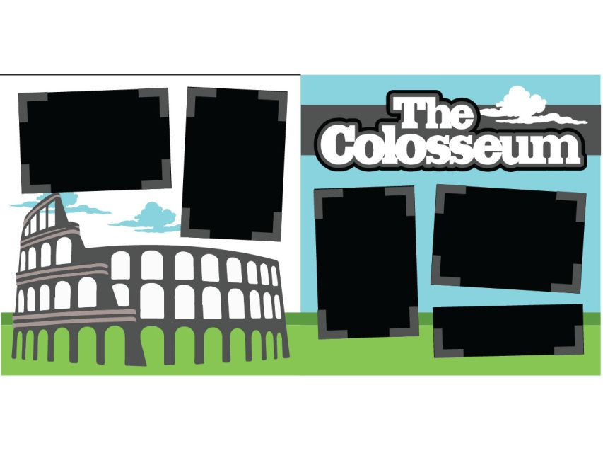 Places To See With Images Scrapbook Kits Colosseum Scrapbook