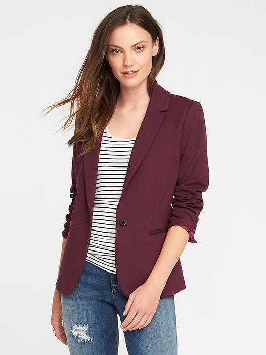 014bbd0c35d75 Classic Ponte-Knit Blazer for Women | Jackets | Knit blazer, Blazers ...